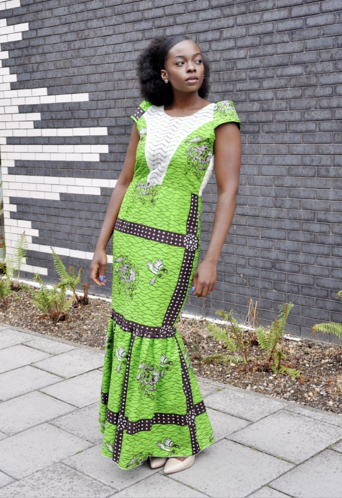 f985fc9c51 Green Ankara African Maxi Dress