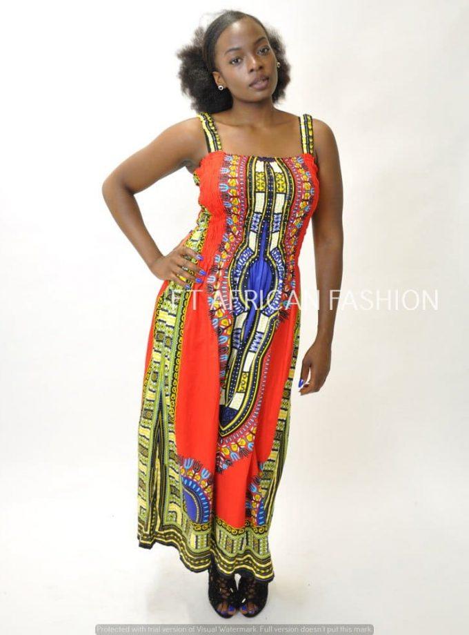 Dashiki Summer Dress Front Image