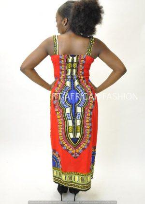 Dashiki Summer Dress Back Image