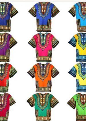 Traditional African Unisex Dashiki Shirt / Top