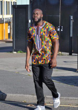 Kente Print Summer Shirt Front