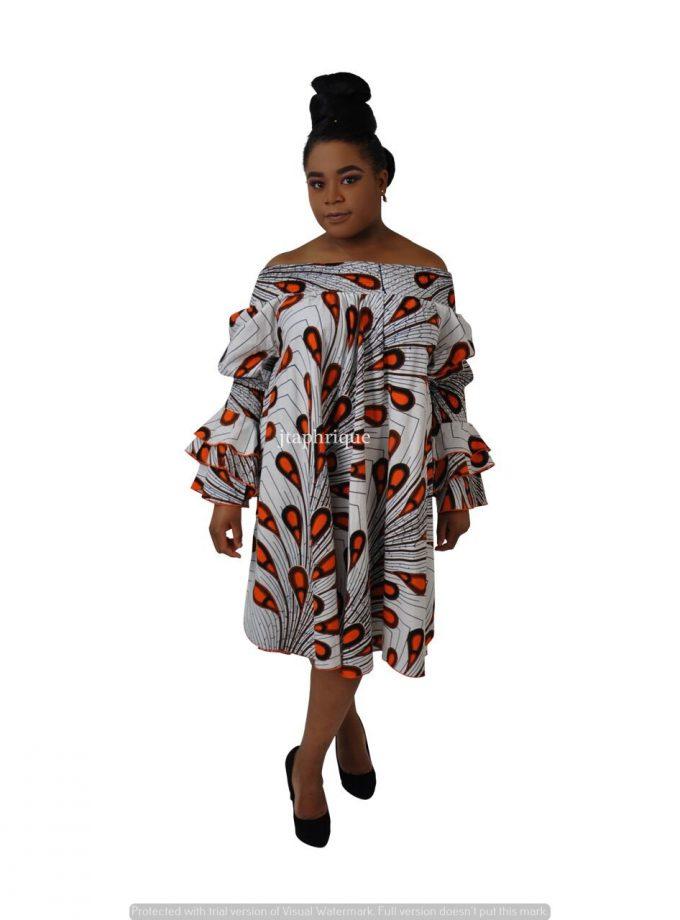 African Print Sabrina Tent Dress Product Image