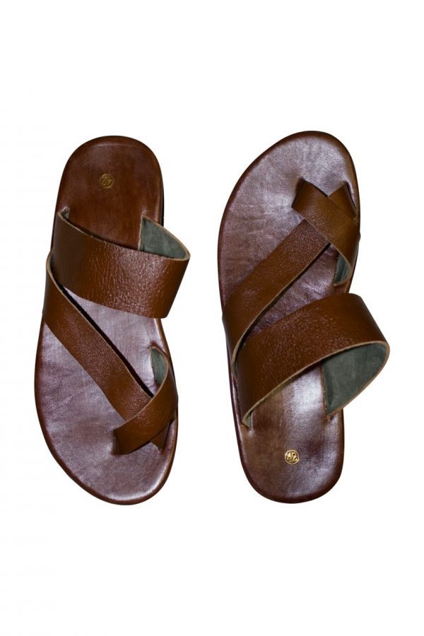 858979c81 Greek Men Cross Leather Sandals