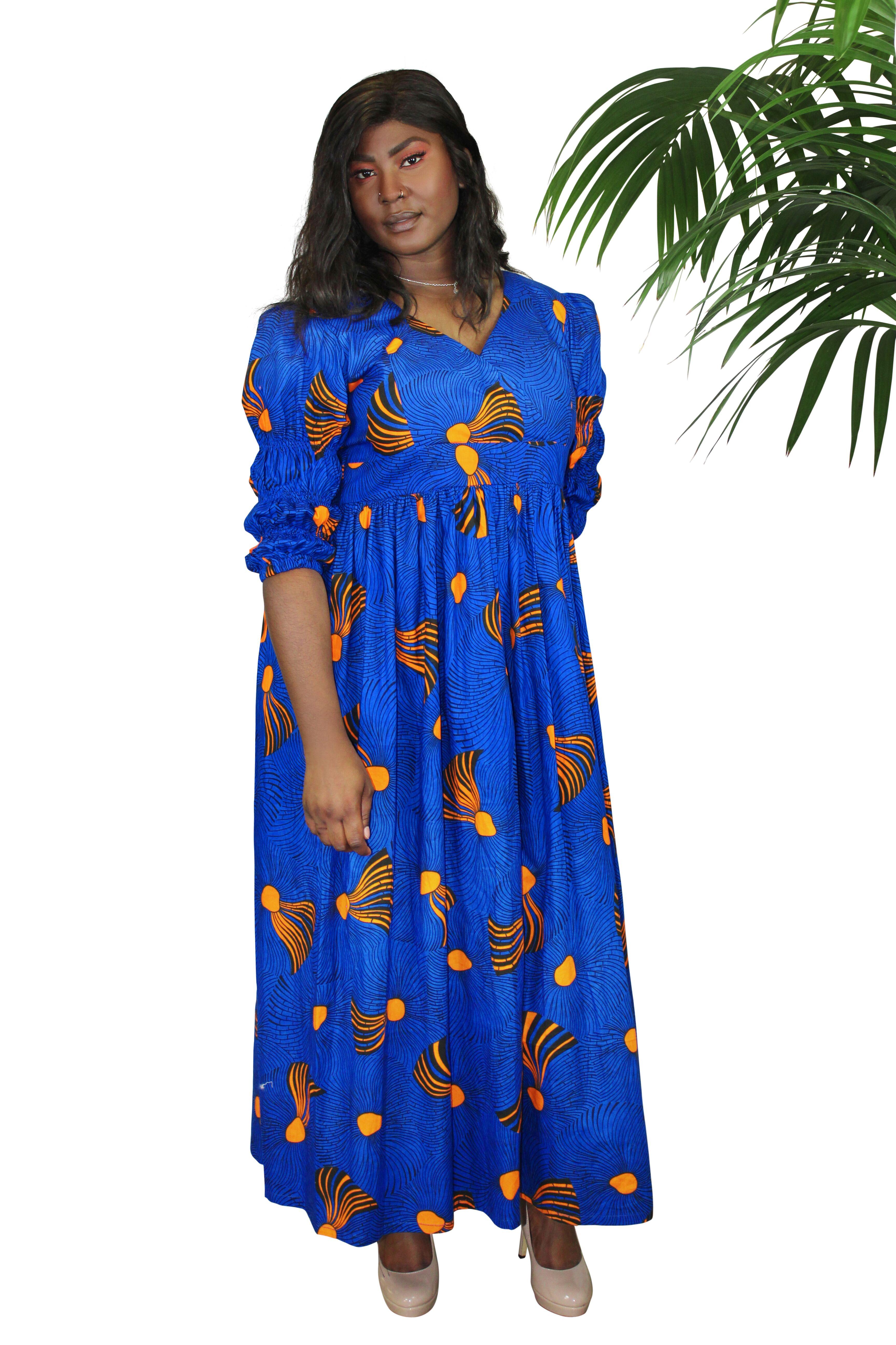 61487dcc33bee African Print Maxi Dress Uk