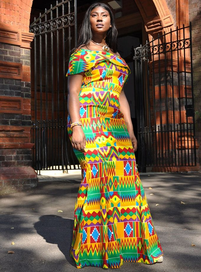 African Kente Polish Cotton Dress
