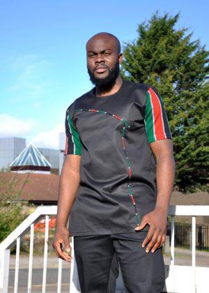 Kenyan Print & Polished Cotton Shirt