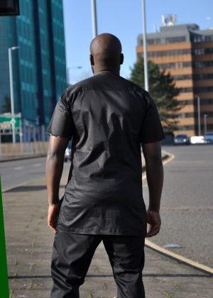 Kenya Mixed Print Shirt Back Image