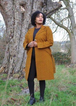 Mustard Patterned Ankara African Print Trench / Kimono Coat