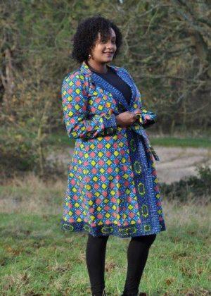 Multicoloured Ankara African Print Trench / Kimono Coat