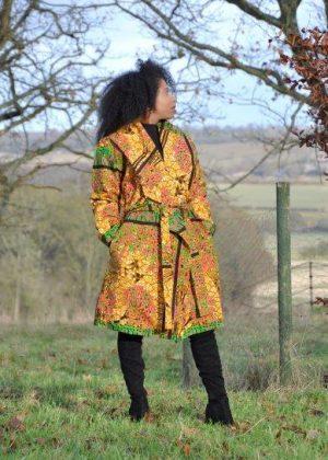 Ankara African Print Trench / Kimono Coat