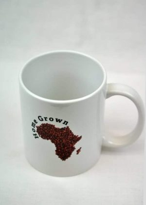 African Map Shape Coffee Beans Design Mug