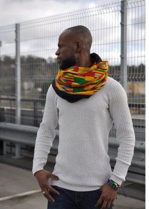 Versatile Unisex African Print Infinity Neck Scarf