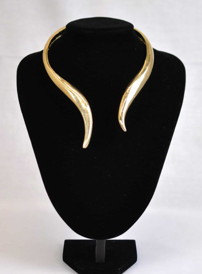 African Statement Gold Bridal Necklace