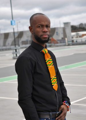 Kente Multicoloured African Tie & Pocket Handkerchief Set
