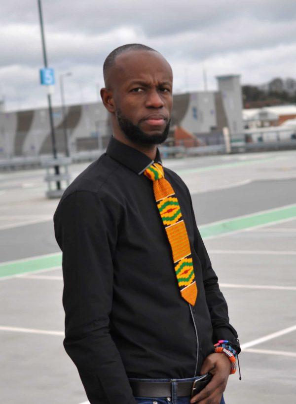 Kente Multicoloured African Tie & Pocket Handkerchief Set