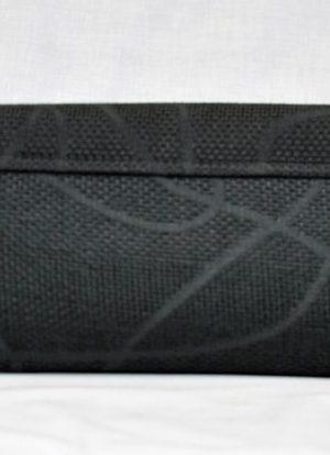 Kenyan Masai Black Beaded Clutch Bag Image of Back
