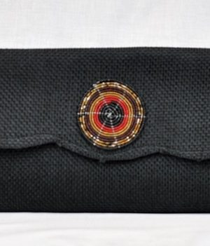 Kenya Masai Black Beaded Clutch Bag