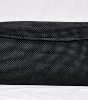Kenya Masai Black Beaded Clutch Bag Image of Back