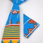 Multicoloured African Print Tie & Pocket Handkerchief Set