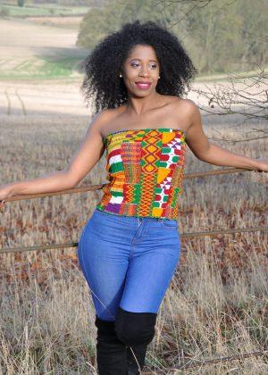 Kente African Print Bandeau Tube Top