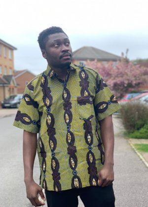 Lime African Print Shirt