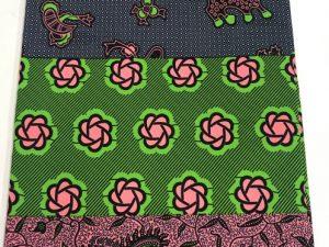 6 Yards VIP Green / Pink / Grey African print / Ankara fabric