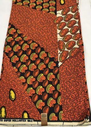 Light Brown Super Hollantex Wax Ankara African Print Fabric - 6 Yards