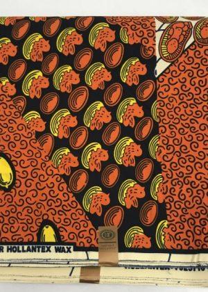 Light Brown Super Hollantex Wax Ankara African Print Fabric - 6 Yards - extra image