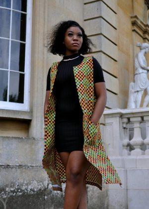 Josie African Print Ankara Kimono Front Image
