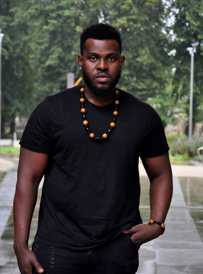 African Beaded Fashion Necklace with Bracelet