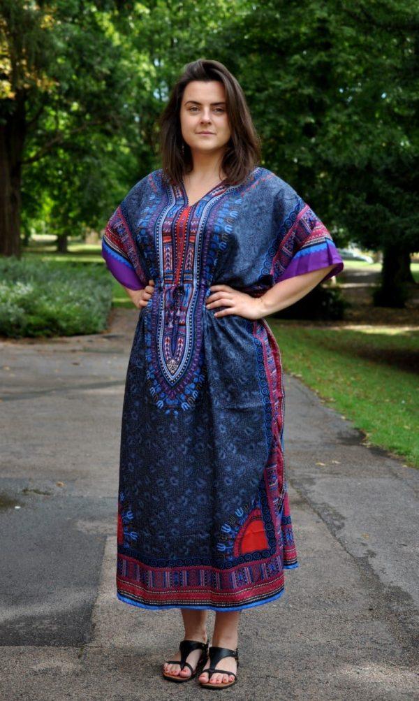 Size 10-24 Kaftan dress with drawstring waist