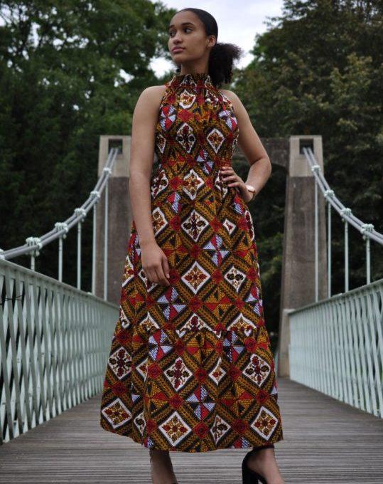 Summer Print Halterneck Maxi Dress