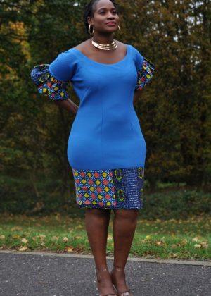 African Ladies Body-co Smart knee Dress