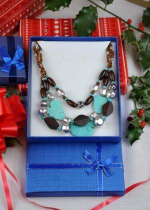 Three Tier Beaded Necklace