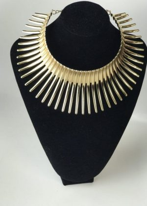 Gold Plated Thorn Collar Choker necklace With Earrings