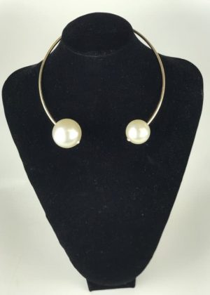 Gold Plated Fashion Jewelry with Pearl Pendant necklace And Earrings