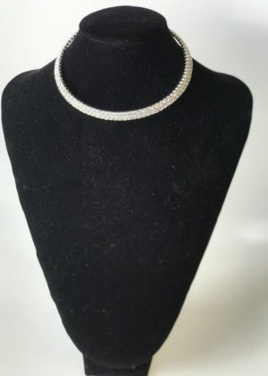 Stretch Collar Sliver Fashion Jewelry Necklace with Sequins