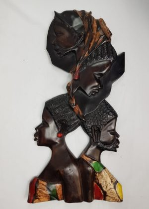 African wooden wall art