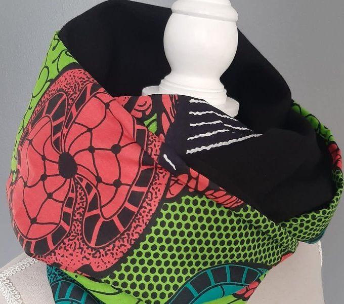 Unisex African Print Versatile Infinity Neck Scarf