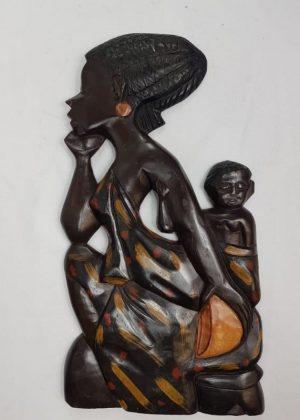 African Wooden Wall Art Decor