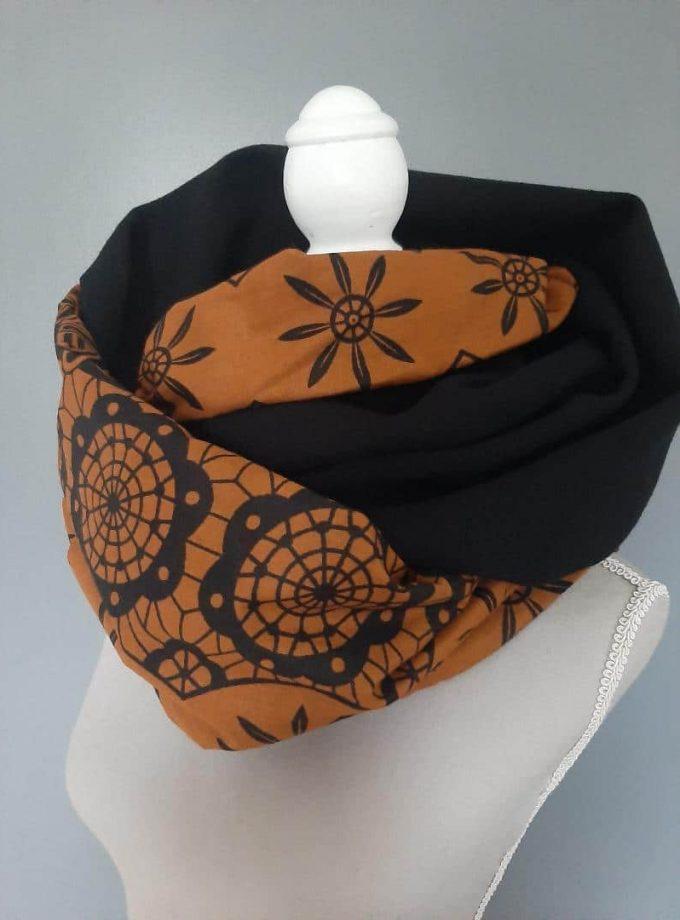 Kente African Print Versatile Infinity Neck Scarf Unisex