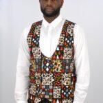 Multi Coloured Ankara Print Waistcoat