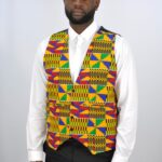 Kente Print Waistcoat With Four ButtonKente Print Waistcoat With Four ButtonKente Print Waistcoat With Four Button