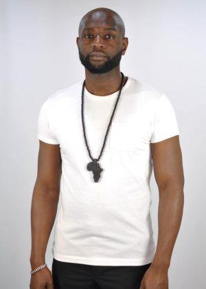 "African Shape Pendant 15"" Black Necklace"