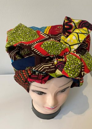 Colourful African Print Bonnet With Belt