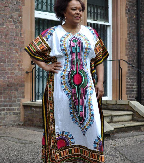 Dashiki Kaftan Maxi Dress Product Image