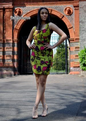 Sage African Print Bodycon Dress