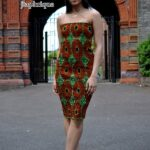 Ripple African Print Bodycon Dress