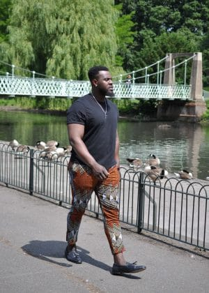 Men's Colourful African Print Skinny Pants / Trousers Image