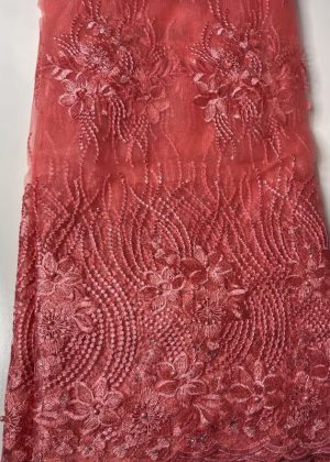 Pink French Lace Fabric
